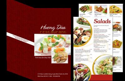 In menu nhà hàng, nhận in menu giấy giá rẻ lấy nhanh