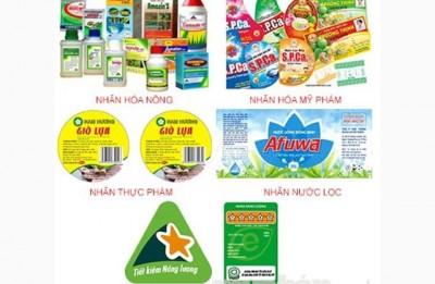 Địa chỉ in tem decal giấy giá rẻ lấy nhanh Hà Nội, Nghệ An