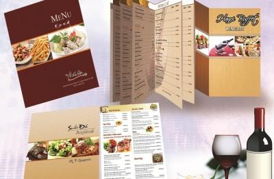In menu giấy, in menu nhà hàng lấy nhanh ở đâu?