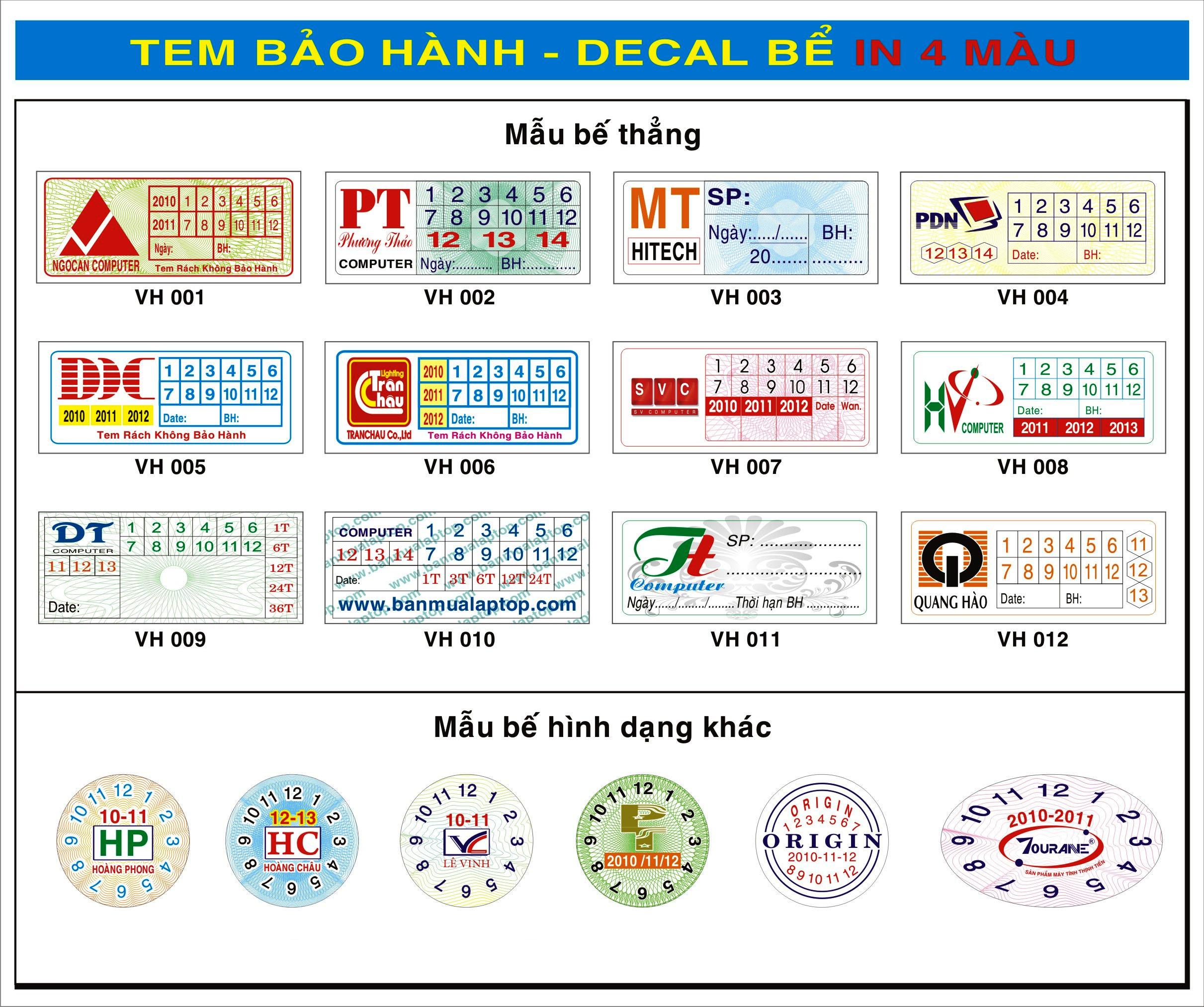 In tem lấy nhanh tại Thanh Xuân
