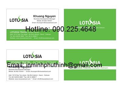 Công ty in card visit lấy nhanh giá rẻ tại Hà Nội